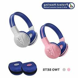 2 Pack of Kids Headphone Wireless Bluetooth with Volume )