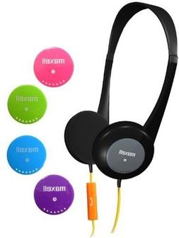 Maxell Action Kids Headphones With Mic - Stereo - Wired - Ov