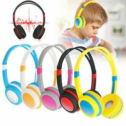 Adjustable Wired Headsets Kids Headphones 3.5mm Over Ear Ear