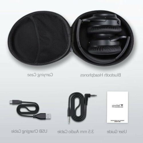 2019 upgraded active noise cancelling bluetooth headphones