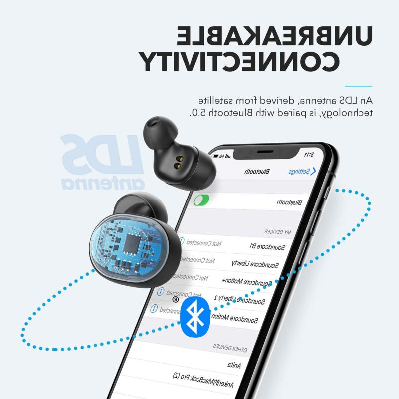 2019 Upgraded, Anker Soundcore Earbuds, Bass,