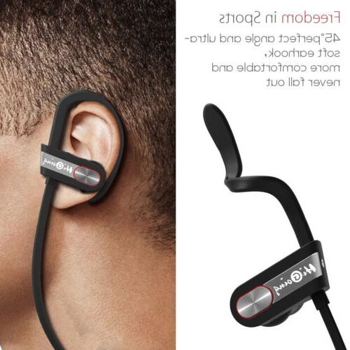 Bluetooth Sport Wireless Stereo Headset Noise Cancelling Earbuds In-Ear