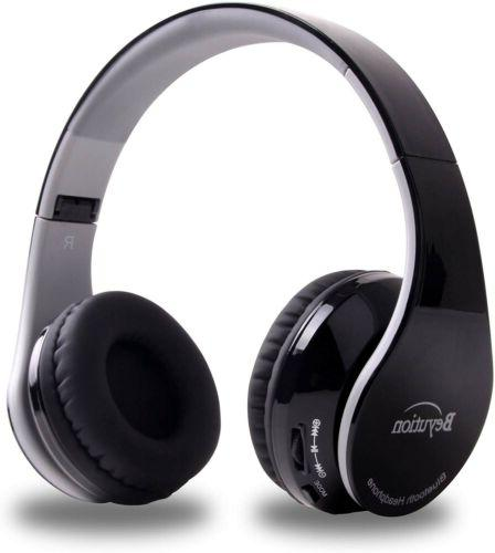 bluetooth headphones wireless foldable hi fi stereo