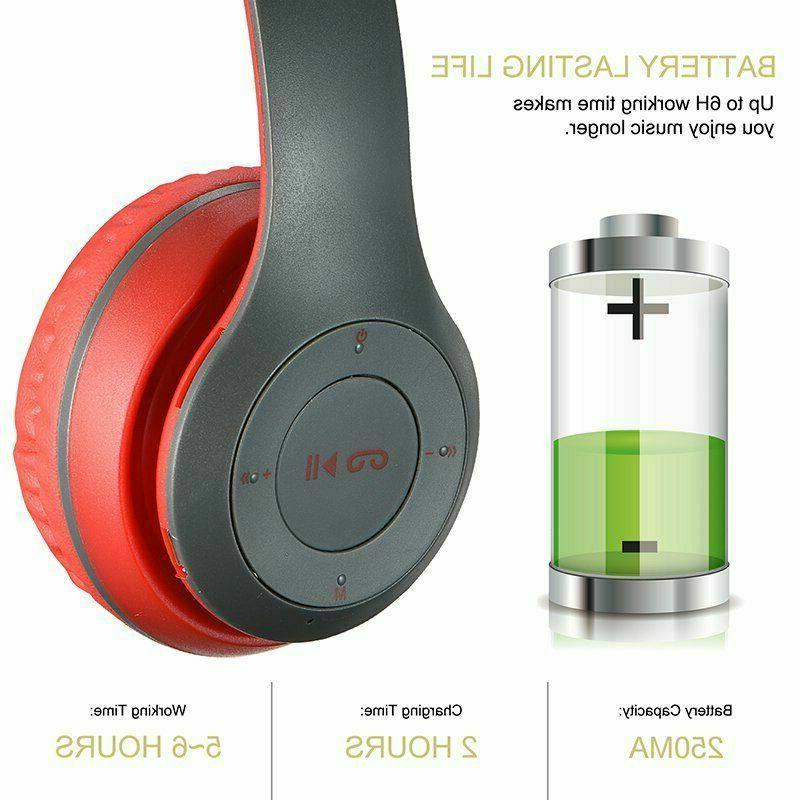 Bluetooth Over Ear Foldable Stereo Cancelling Headset