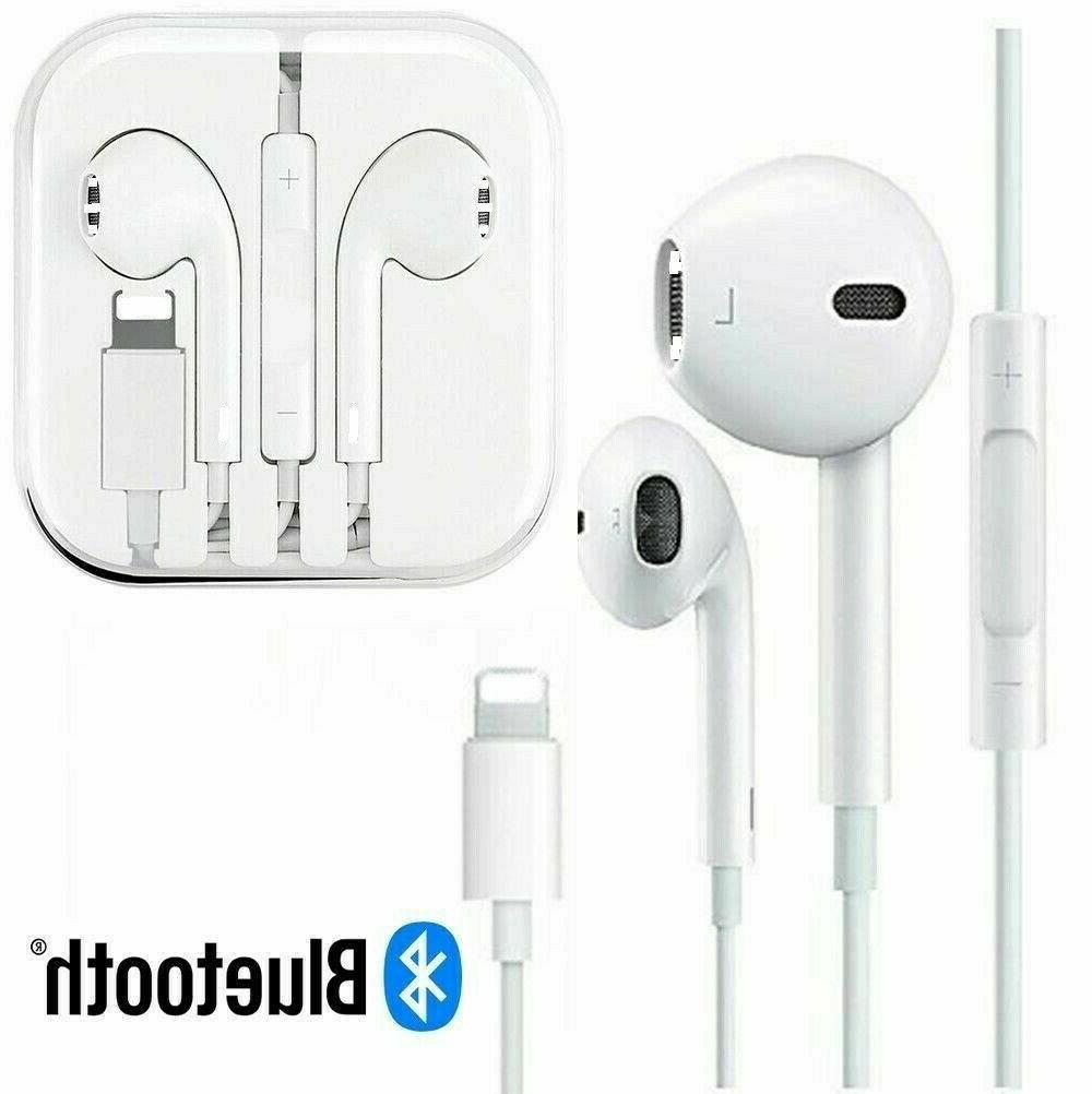 For iPhone XR XS Max X 8 7 Plus Wired Bluetooth Earphones He