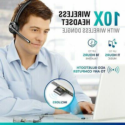 Delton Headset w/ Mic Center - USB Dongle Included
