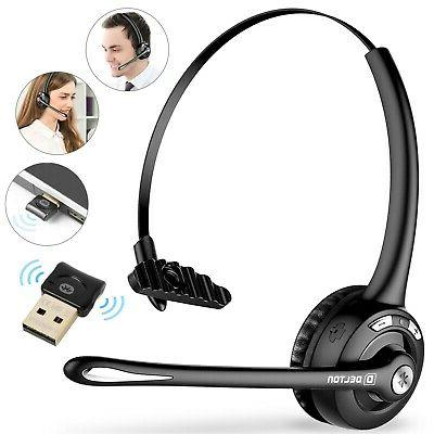 wireless computer headset w mic for call