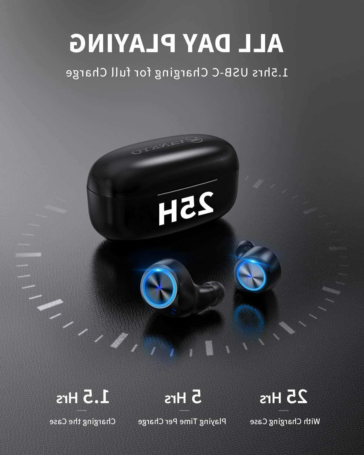 Wireless Earbuds Bluetooth 5.0 Earphones with USB