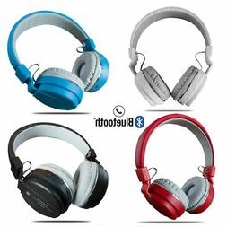 Wireless Bluetooth Stereo Headsets with Mic Super Bass HiFi